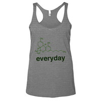 Weed Science THC Womens Athletic Grey Racerback Tank - Graphic Tee - Clothing - Gift