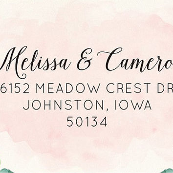Personalized Address Stamp, Calligraphy Stamp, Housewarming Gift, Invitation Stamp 1030