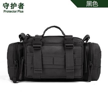 Sports gym bag Protector Plus Y108 Outdoor  Camouflage Nylon Tactical Military Waist Pack Hiking Messenger Bag Handbag KO_5_1