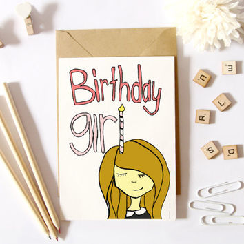 Cute Birthday Card For Her, Best Friend Gift, Sister Birthday Gift, Custom Greeting Cards