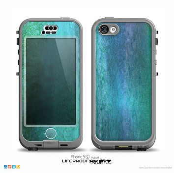 The Vivid Green Watercolor Panel Skin for the iPhone 5c nüüd LifeProof Case