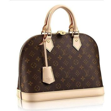 CREYDC0 Authentic Louis Vuitton Monogram Canvas Alma PM Tote Handbag Article:M53151 Made in France