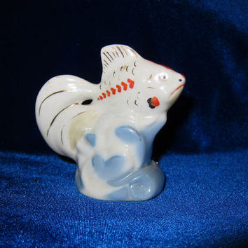 VINTAGE Porcelain Figurine Soviet fish  1970 russian antique polonne