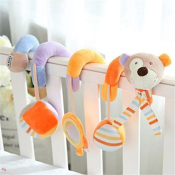 Infant baby toy activity spiral bed stroller bumper with BB device hanging crib rattle kids toys newborn juguete bebe animales