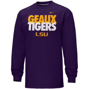 Nike LSU Tigers Youth Local Long Sleeve T-Shirt - http://www.shareasale.com/m-pr.cfm?merchantID=7124&userID=1042934&productID=522276766 / LSU Tigers