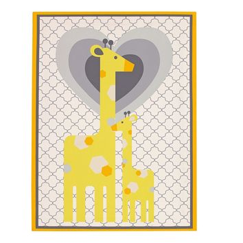 Happy Chic by Jonathan Adler Safari Giraffe Canvas Wall Art (Yellow)