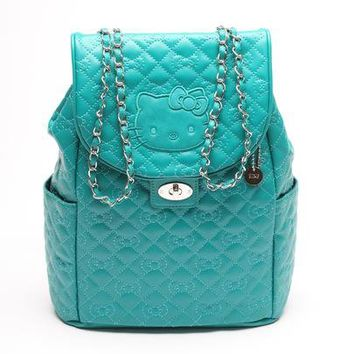 Hello Kitty Mini Backpack: Teal Quilt