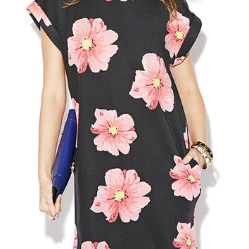 Flower Printed Mini Dress