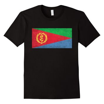Eritrean State Flag T-Shirt in Vintage Retro Style