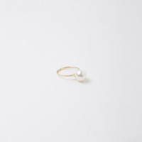 Raised Pearl Ring by Saskia Diez