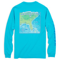Southern Coast Long Sleeve T-Shirt in Turquoise by Southern Tide
