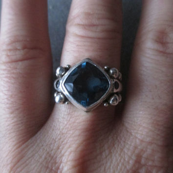 Sterling Silver London Blue Topaz Statement Ring