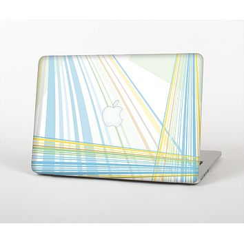 The Bright Blue and Yellow Lines Skin for the Apple MacBook Air 13""