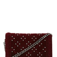 Studded Velvet Crossbody Bag