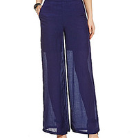 Alythea Pleated Palazzo Pants - Blue