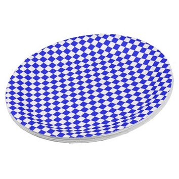 Blue and White Checkered Paper Plates 9 Inch Paper Plate