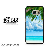 Beautiful Beach With Coconout Tree DEAL-1616 Samsung Phonecase Cover For Samsung Galaxy S7 / S7 Edge