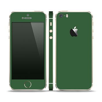 The Solid Hunter Green Skin Set for the Apple iPhone 5s