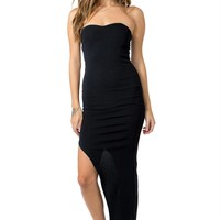 Side Slit Zip Maxi Dress