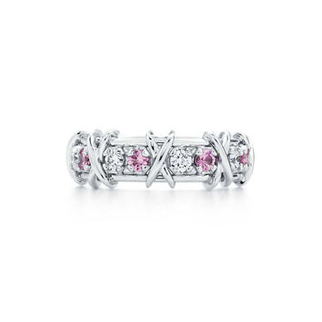 Tiffany & Co. - Tiffany & Co. Schlumberger® Sixteen Stone ring with diamonds and pink sapphires.