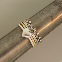 Princess Crown Triple Stack Ring