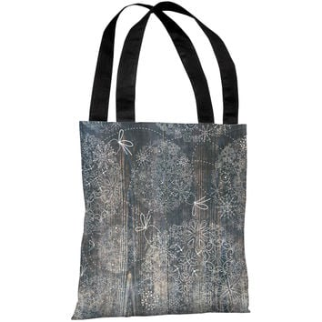 """Ornaments Etched On Wood"" 18""x18"" Tote Bag by OneBellaCasa"