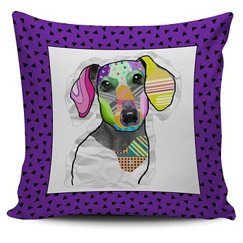 Collage Pup Dachshund Pillow Cover