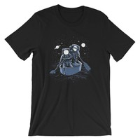 Across the Galaxy Rowing Astronauts Short-Sleeve Unisex T-Shirt