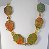 Dragonskin Agate Necklace