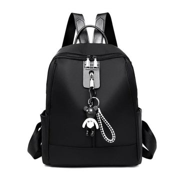School Backpack trendy VOLESS Fashion Bags For Women 2018 Backpack Soild  For Girls Teenage Big Student Rucksack Female Casual Backpack AT_54_4