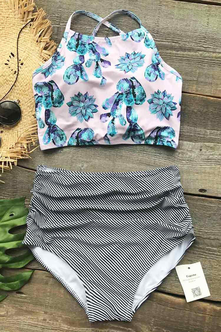 3b1954259e Cupshe Cute Succulent Plants Floral from Cupshe   swim suits