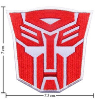 Transformers Patch Autobot Logo I Embroidered Iron on Patches