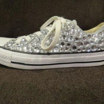 CREYONB Bedazzled Rhinestone Converse (more colors available) 7658cb7e5d