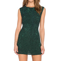 MLV Kari Sequin Dress in Forest