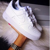 nike women men running sport casual shoes sneakers air force white  number 1
