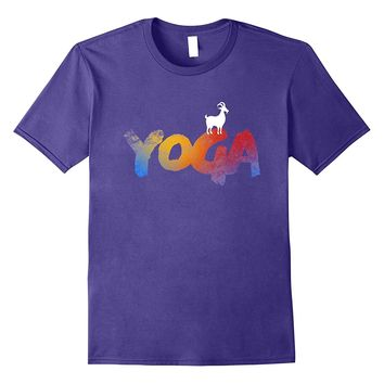 Love Goat Yoga Pose T shirt Meditating Lovers Gift Idea Tee