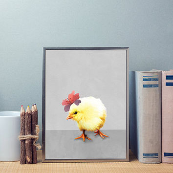 Free to Dream - chick print, chick easter, easter print, chick wall art, wall art prints, wall decor, printable art, nursery printable
