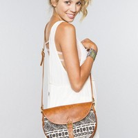 Brazilian print flap bag