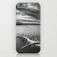 Windy sunset Monochrome iPhone & iPod Case by Guido Montañés