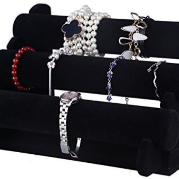Black Velvet Jewelry Display Stand - Hand Watch Bracelet