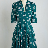 Star Studded Performance Dress in Snowflakes