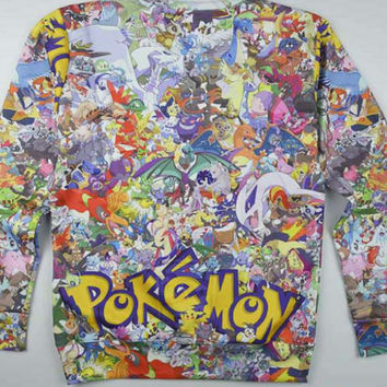 Pokémon  all over print shirt