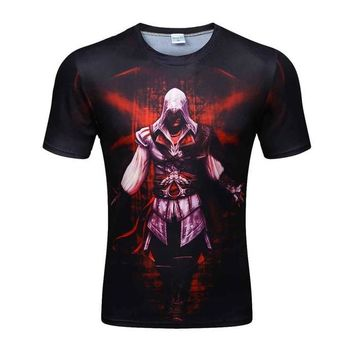 Colorful 3D Printed High Quality Tees #assasin