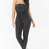Belted Ruched Jumpsuit