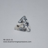 Side Drilled Faux Marble 15mm Pyramid Focal Bead, Handmade Polymer Clay Beads for Jewelry Making