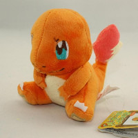 Anime Pokemon Go Plush Toys Charmander Pikachu Bulbasaur 12cm Cute Soft Stuffed Toy Doll Children Gift