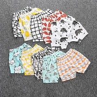 Summer baby boys girls shorts baby girl cartoon fruits printed design loose-fitting short pants baby boy shorts