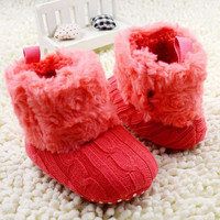 Tiny Baby Shoes | Fluffy Russian Booties