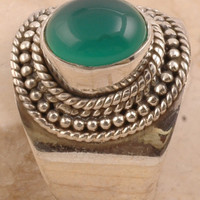 Green Onyx Men's Ring