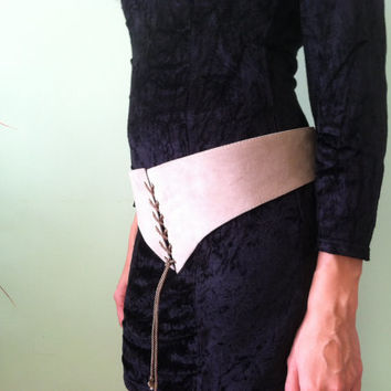 Suede Leather Belt, Lace up Costume Belt, Grey Corset Belt, Pirate Wench Belt, Renaissance Belt, Wide Medieval Belt, Boho Hippie Cincher